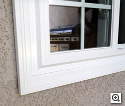 Window casing vinyl