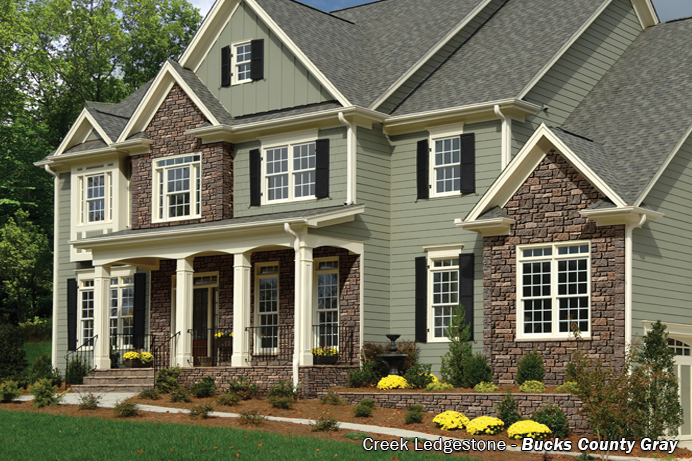 Exteria creek ledgestone review research vinyl siding for Ashton heights siding